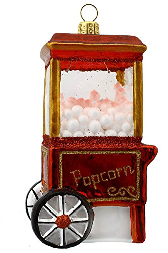 Hamburger Weihnachtskontor Christbaumschmuck aus Glas -Popcornmaschine