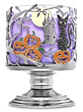 Bath & Body Works White Barn 3 Wick Candle Sleeve Holder Halloween Pedestal Fall 2020 Collection Black Cat Full Moon