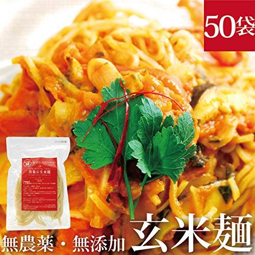 HIRYUの玄米麺 100g×50pc パスタ 自然栽培(無農薬・無肥料)コシヒカリ使用 (平麺)
