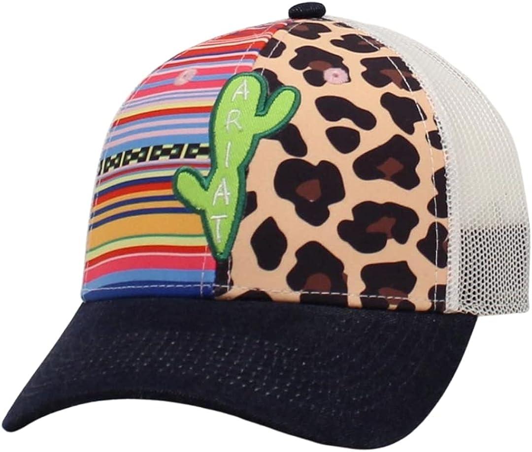 ARIAT Ladies Serape Leopard Cactus Baseball Cap
