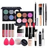 Juegos de Maquillaje para Mujer, Set de Maquillaje Profesional de 20 Piezas, Organizador de Maquillaje de Viaje Portátil - Kit de Cosméticos Completo Con Sombras de ojos Lápiz Labial Ocultador