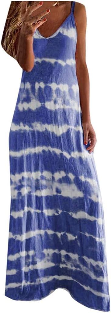 soyienma Dress for Women,Womens Colorful Sexy Short Sleeve V Neck Summer Maxi Dress Casual Sundress Beach Holiday Long Dress
