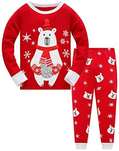 Christmas Pjs Kids Pyjamas Set for Boys Pajamas Cotton Toddler Baby Clothes Girls Nightwear Fun Santa Claus Sleepwear Unisex Long Sleeve 2 Piece Nightwear Outfit 9-10 Years