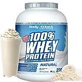 Body Attack- 100% Whey Protein,2,3kg, Natural, proteína en polvo extra cremosa con hidrolizado y BCAA's, apoya el desarrollo muscular y las dietas, para todos los atletas- Hecho en Alemania