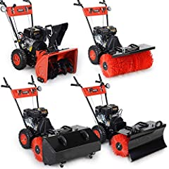 BRAST Benzine Sweeper Snow Blower Snow Slider 4.8kW (6.5pk) 80cm Width Electric Start Quick Release System 4 in 1 Apparaat*