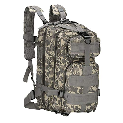 Ketamyy Militär Taktische 3 Day Rucksack Camouflage Wasserdicht Dauerhaft Outdoor Reisen Survival Wanderrucksack Kampfrucksack Assault Molle Laptop Pack 30L Herren Damen ACU Digital