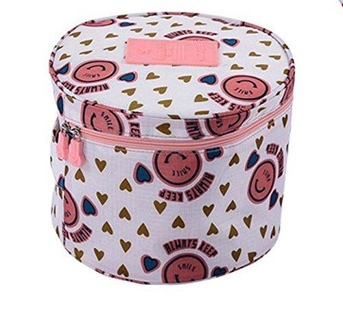 WeiMay Portabicicletas de viaje organizador bolsa cosmética redonda con calcetines y sujetador...