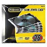 Fellowes 98316 - Pack de 25 Cajas Estuche para CDs/DVDs Slim,...