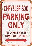 YASMINE HANCOCK Chrysler 00 Parking Only Metall Plaque Zinn