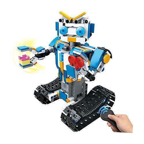 ALWMHWOE Novelty Toy,Best Toys,Hot Toys,Gifts Toys,Toy Wagon DIY Building Blocks Walking RC Smart Robot Electronic Robot Toy for Kids