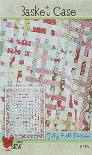 Basket Case Quilt Pattern, Jelly Roll 2.5 Inch Strip Set Friendly, 61 Inch by 71 Inch Finished Size