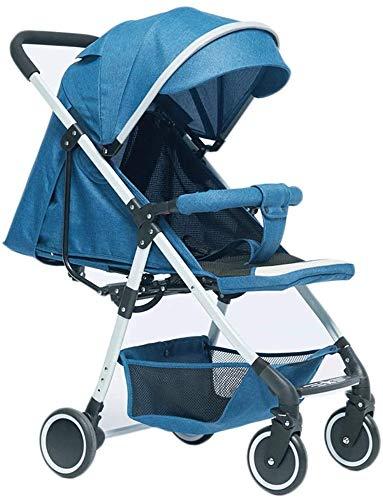 ZKHD Baby-Kinderwagen Leichte Tragbare Regenschirm-Falten-Ultra-Licht-Ultralicht Kann Sitzen