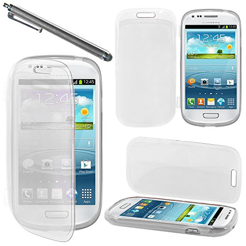 ebestStar - Coque Compatible avec Samsung S3 Mini Galaxy GT-i8190, i8190N Etui Housse Silicone Gel Portefeuille + Stylet, Transparent [Appareil: 121.6 x 63 x 9.9mm, 4.0'']