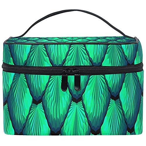 Borsa cosmetica Borsa da treno portatile per borse da viaggio con bilancia blu verde per donne Ragazze