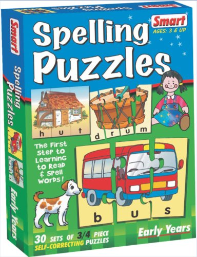 Smart Spelling Puzzles (Multi-Color, Set of 30)
