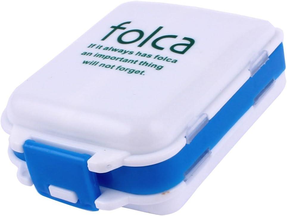 SALENEW very popular! uxcell Plastic Travel 8 Compartments Store Cas Sales Pill Medicine Box