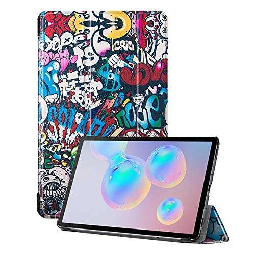HHF Tab Accessories For Samsung Galaxy Tab S6 Lite, SM P610 P615, Slim PU Leather Case Protective Shell/Skin Tablet Case for S6 LITE 10.4 (Color : Multi)