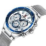 SUNLIFE Mens Montres Mode Multifonctions Sport Montre-Bracelet à Quartz chronographe...