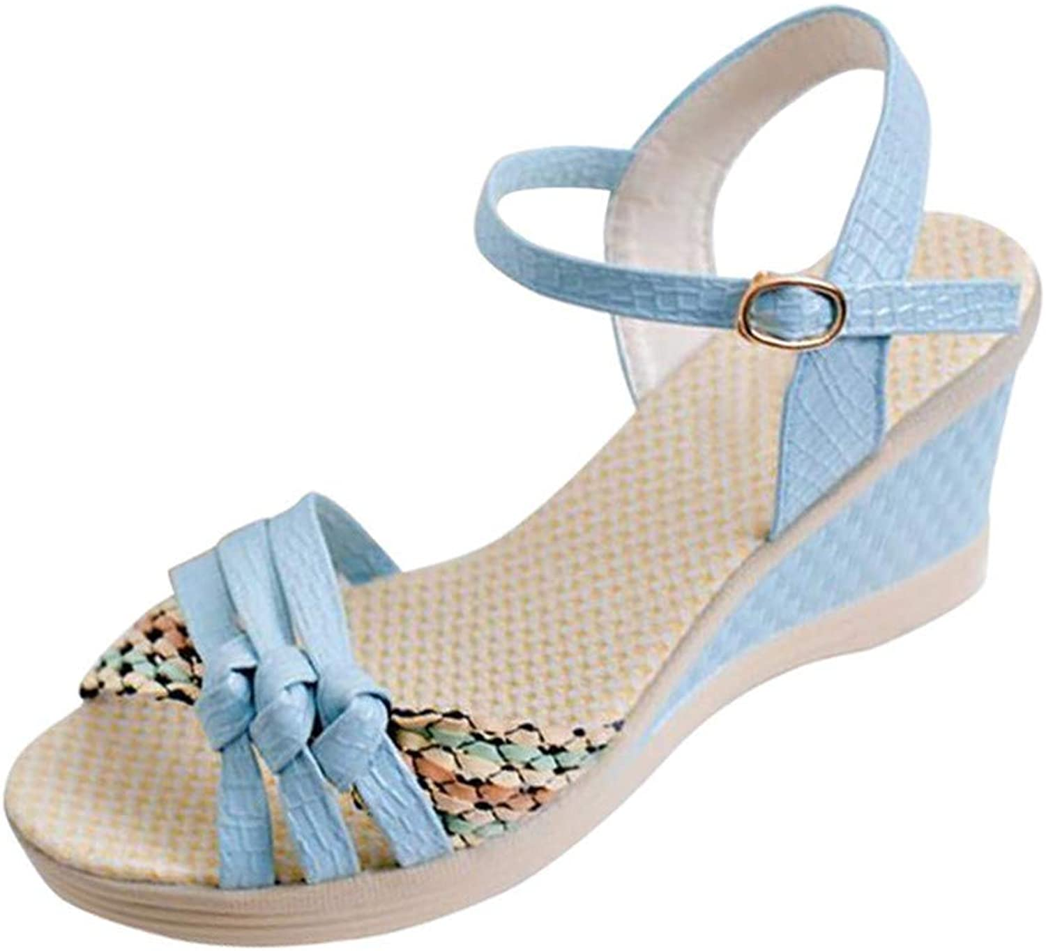 Summer Women Wedges Sandals Sweet Style Ladies Platform Gladiator Sandals Open Toe Flats shoes