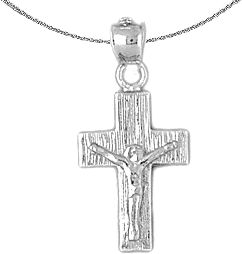 Jewels Obsession Silver Crucifix S 925 Rhodium-plated Outlet sale feature Seattle Mall Necklace