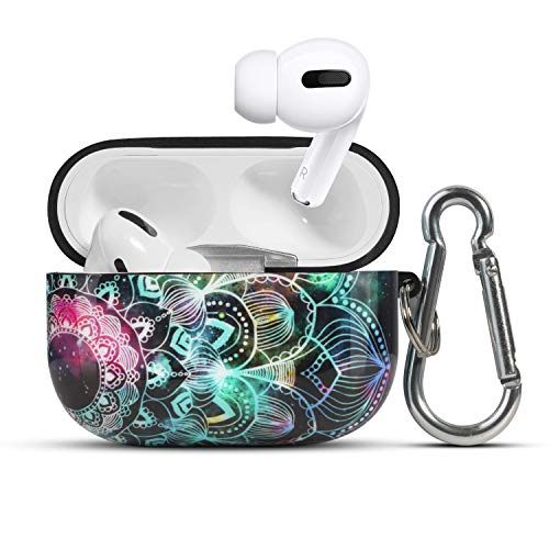 HIDAHE Compatible with Airpods Pro Case, Mandala Pattern Design Airpod PRO Cover, Fashion Cool Airpods Pro Skin, Air pods Pro Cases for Men Teens Boys, Mandala