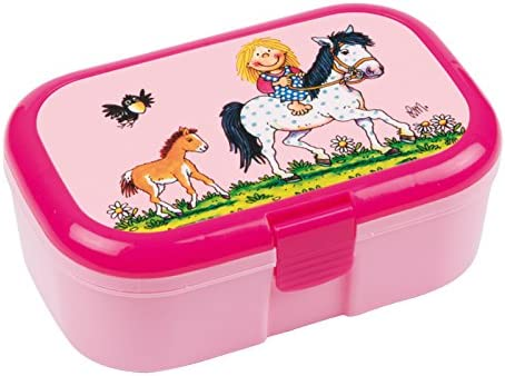 Glitzer-Lunchbox * PFERDEZAUBER Plus Wunschname * f/ür Kinder von Lutz Mauder Perfekt f/ür M/ädchen mit Namen Vesperdose Schule Kindergarten Tapirella Brotdose mit Namensdruck