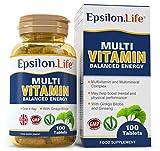 Epsilon Multivitamin and Mineral Complex - 100 Tablets - Balanced Formula To Boost