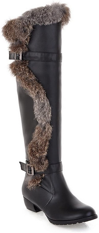 AdeeSu Womens Casual Slip-Resistant Buckle Urethane Boots SXC02275