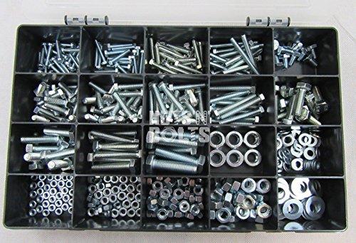 Box mit M4, M5, M6 & M8 Schrauben, Muttern und Unterlegscheiben Kit11, Festigkeitsklasse 8.8
