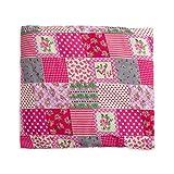 Kinder Kirschkernkissen quadratisch 24x24cm groß mit ca. 400 Gramm Kirschkernen abnehmbarer Bezug aus 100% Baumwolle (Bunte Flecken)