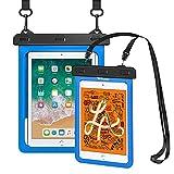 Weuiean iPad Waterproof Case - 1 Pack Blue, Waterproof Mini Case - 1 Pack Blue