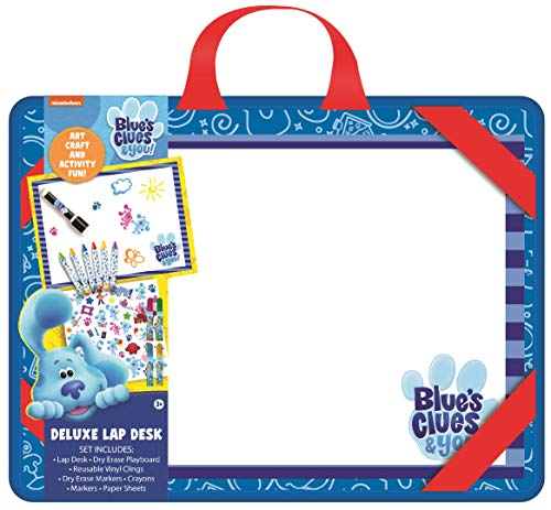 Nickelodeon Blue's Clues Deluxe Lap Des Set for Kids and Toddlers with Stickers, Crayons, Dry Erase Markers and Playboard