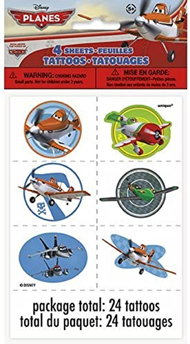 Unique Industries BB44818 Disney Planes Tattoo Favors, 4 Sheets by Unique Industries
