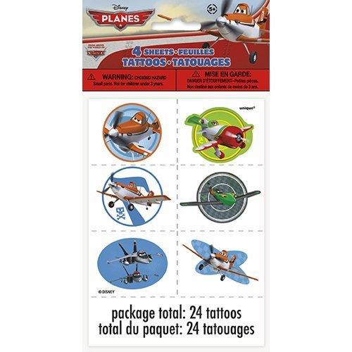 Disney Planes Tattoos [4 Sheets Per Pack]