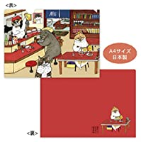 【世にも不思議な猫世界】A4クリアファイル (ラーメン屋)