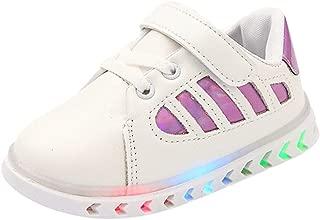 JUNMAONO Zapatillas con Luces para niñas Unisex Zapatillas de Deporte de Entrenamiento Deportivo al Aire Libre para niños y niña Aire Libre y Deporte Gimnasia Running Zapatillas