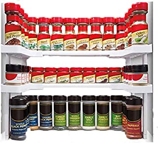 Étagère à épices empilable - Étagère à épices réglable pour armoires de cuisine jusqu'à 64 épices - Pour armoires de cuisi...