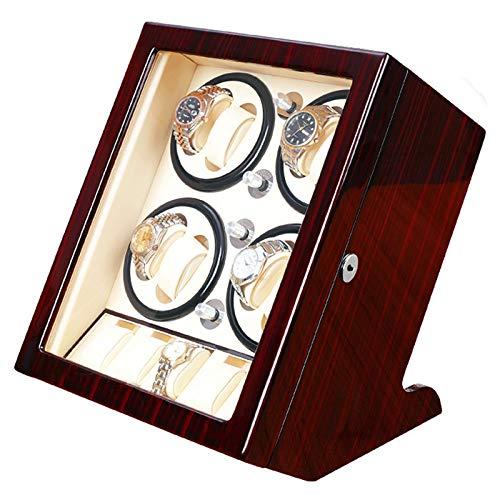 Enrollador automático de Relojes con Acabado de Piano, Hombres y Mujeres, Caja de Reloj giratoria para 8 Relojes automáticos, agitador de Relojes con Espacio Adicional para 5 almacenamientos de relo