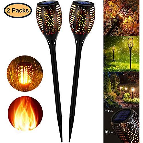StillCool Lampes Torches Flammes Jardin Eclairage Solaire Extérieur Deco avec LED, Conception de Flamme Torchère, Etanche pour Jardin/Allée/Terrasse (2 PARK)