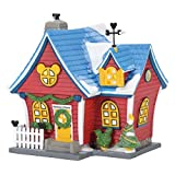 Department 56 Disney Village Mickey's Christmas Lit House, 6.26 inch (Red)