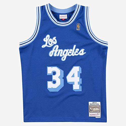 Mitchell & Ness NBA Swingman Shaquille O'Neal Los Angeles Lakers 1996-97 Hardwood Classics Mitchell & Ness - Camiseta (talla XL), color azul
