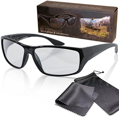 Gafas 3D pasiva para RealD - Negro y deportivo - Polarizadas circular...