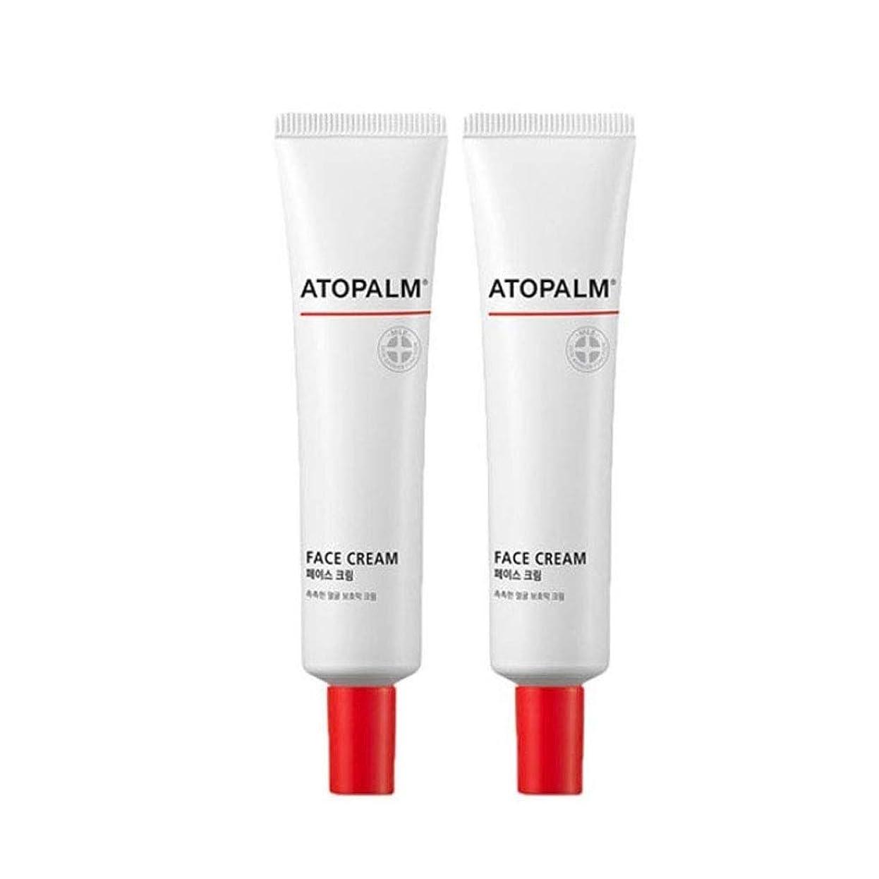 疎外するバウンス致死アトパムフェイスクリーム35mlx2本セット韓国コスメ、Atopalm Face Cream 35ml x 2ea Set Korean Cosmetics [並行輸入品]