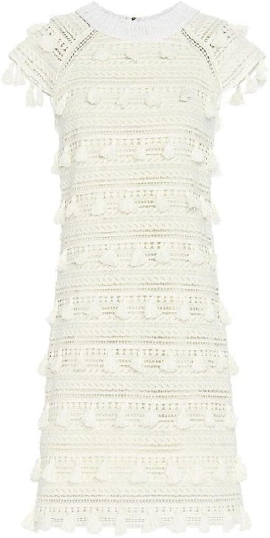 Sea Women's White Crochet Tassel Dress 0