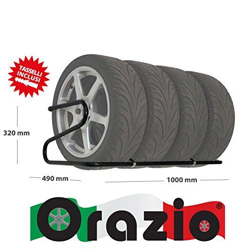 ORAZIO Mod.1000 Portagomme, da parete, per pneumatici con largh. fino a 225 mm