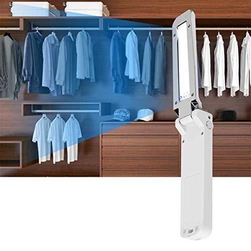 Tragbarer USB-Sterilisator mit UV-Licht, faltbar, Reise-UV-Wand-Desinfektionsmittel, um Keime und Bakterien zu töten, UV-Desinfektionslampe, Werkzeug für Reisen, Hotel, Zuhause, Büro