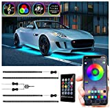 Car Underglow Lights, RGB Car Led Lights Exterior Automotive Neon Accent Light Kits with App and Remote Control for SUVs, Trucks