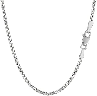 14k REAL Yellow or White SOLID Gold 1.35mm Shiny Round-Box Chain Necklace for Pendants and Charms with Lobster Claw Clasp...