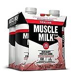 Muscle Milk Genuine Protein Shake, Strawberries 'N Crème, 25g Protein, 11 FL OZ, (Pack of 4)