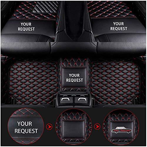 Youthus Alfombrillas De Coche Personalizadas Alfombras De Pie para Audi A1 A3 A4 A4L A5 A6 A6L A7 A8 S3 S5 S6 S7 S8 Q2 Q3 Q5 Q7 TT R8 RS Cobertura Completa Alfombra de Cuero Negro Rojo